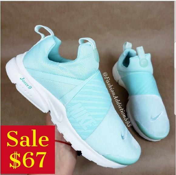 Nike Presto Extreme Womens Suede Aqua